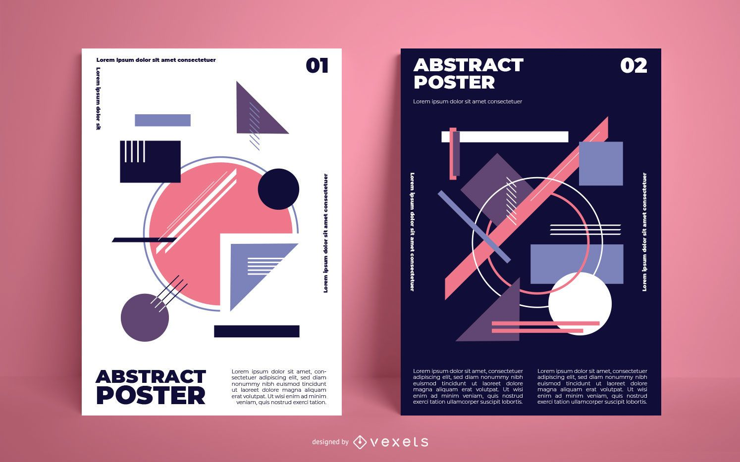 Abstract Geometric Shapes Poster Pack