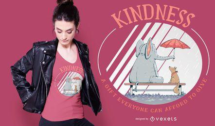 Diseño de camiseta de animales amables.