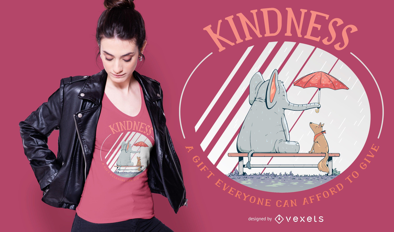 Kind animals t-shirt design