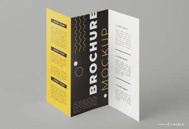 Maqueta de impresión de folleto tríptico
