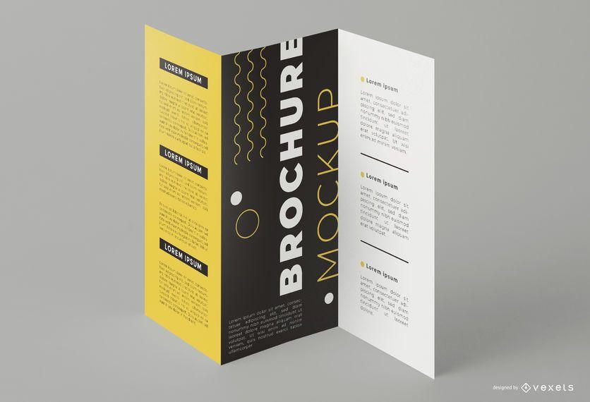 Triptych Brochure Print Mockup