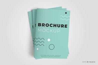 Folheto fechado Stack Mockup Design