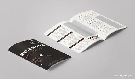 Folleto Diseño Paquete Vista de ángulo Maqueta