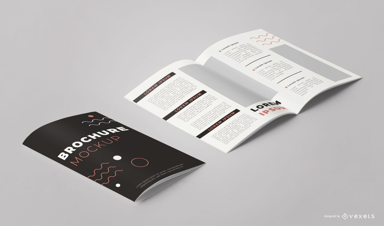 Brochure Design Pack Angle View Mockup