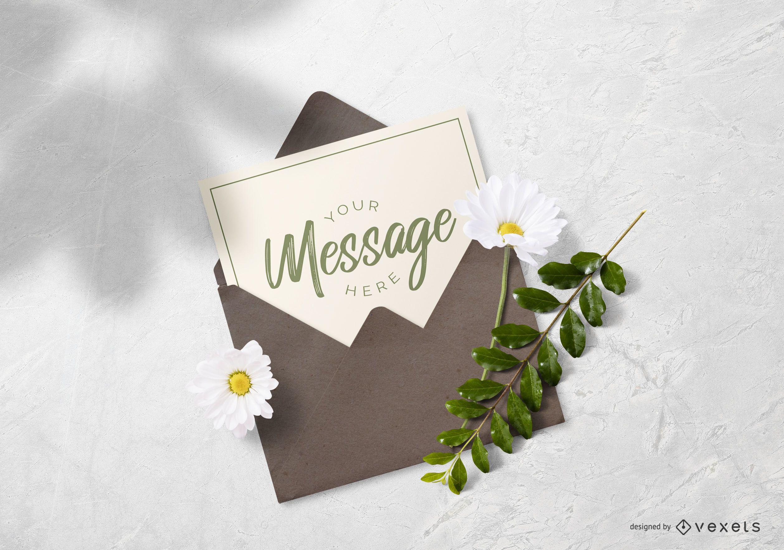 Card in Envelope Mockup