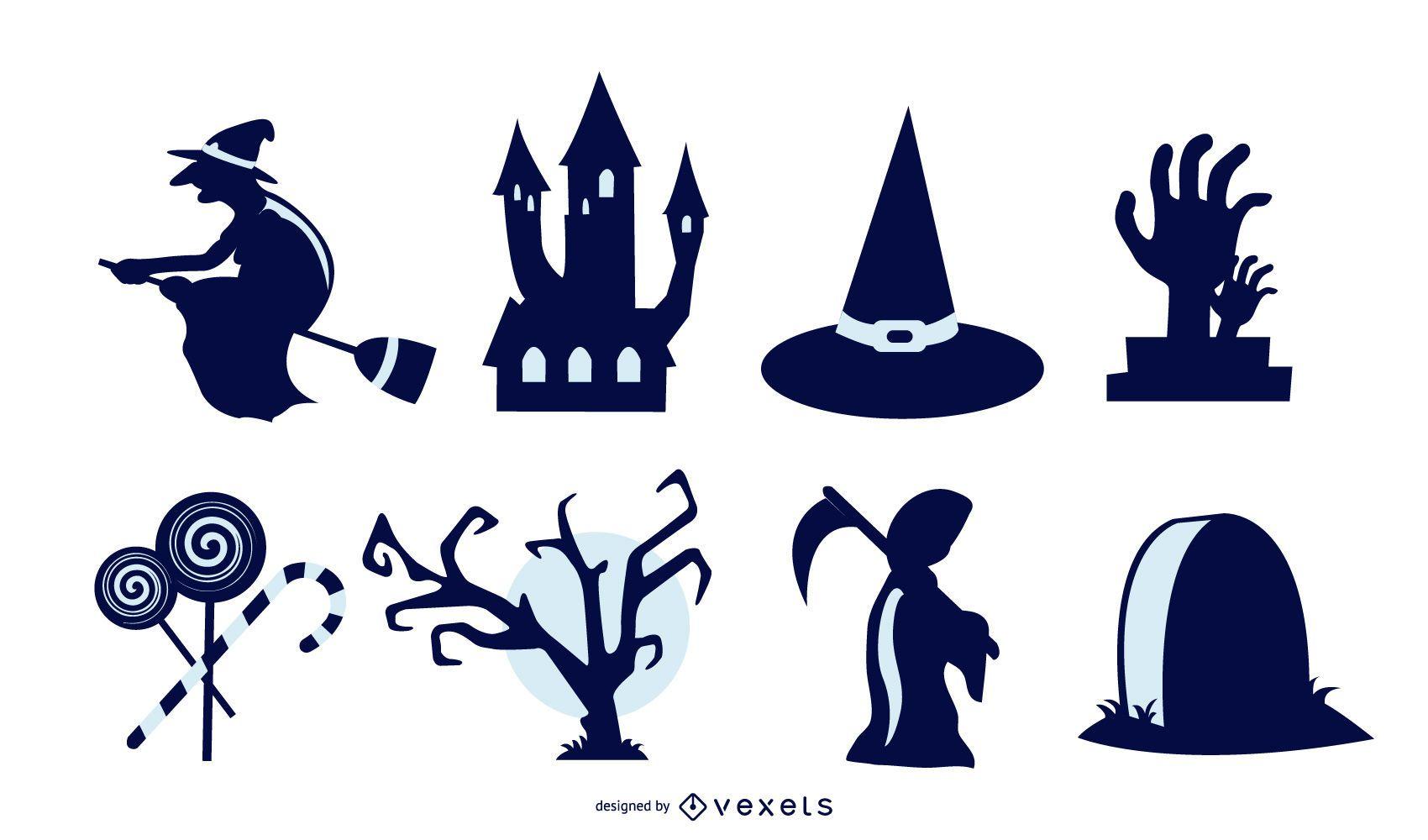 Colección de vectores de Halloween