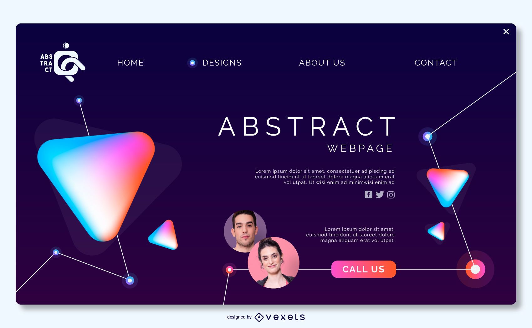 Landing page abstract template