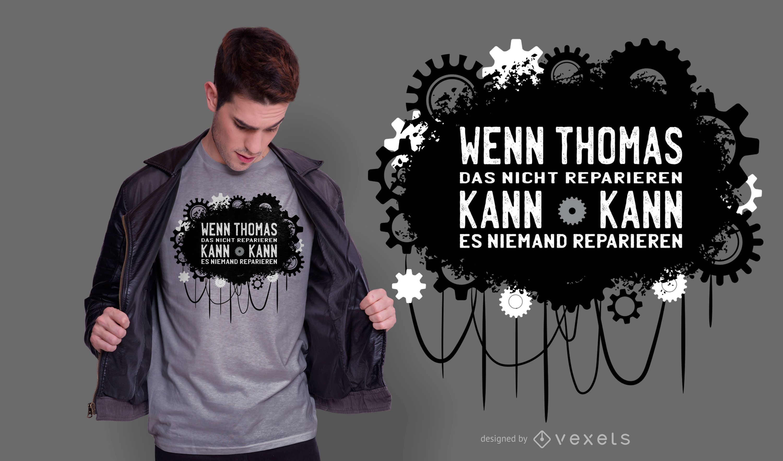 Design de camiseta com orçamento alemão