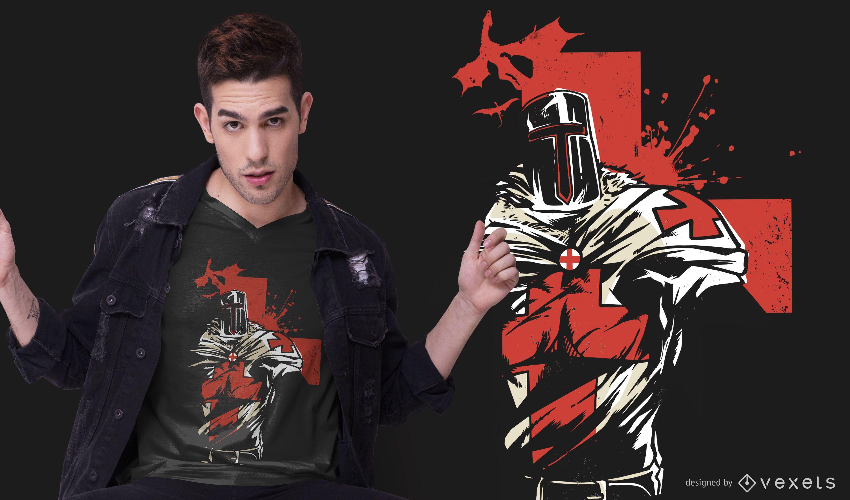 Red Cross Knight T-shirt Design