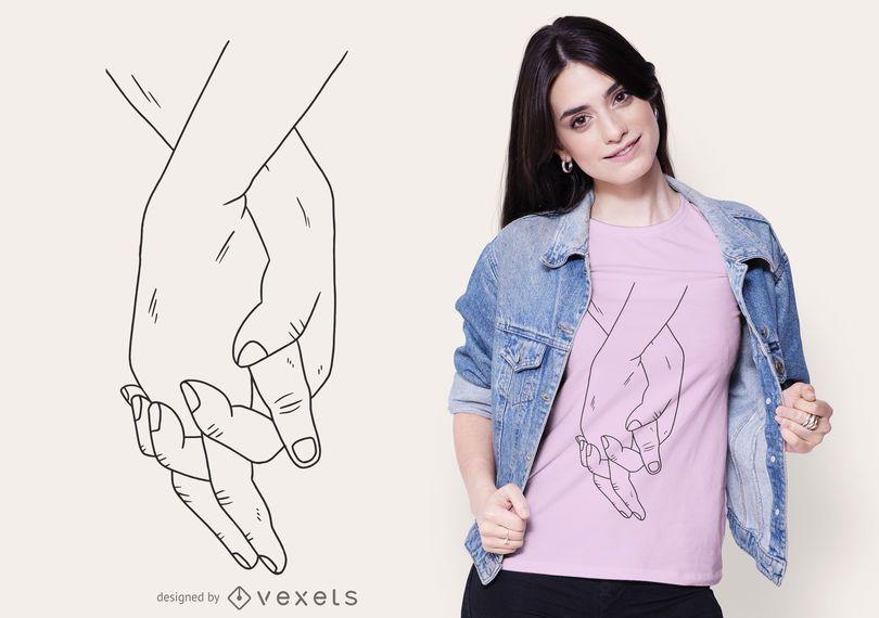 Holding Hands Stroke T-shirt Design