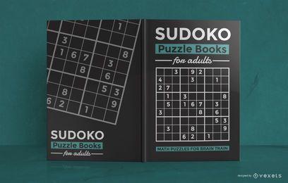 Diseño de portada de libro de rompecabezas matemático