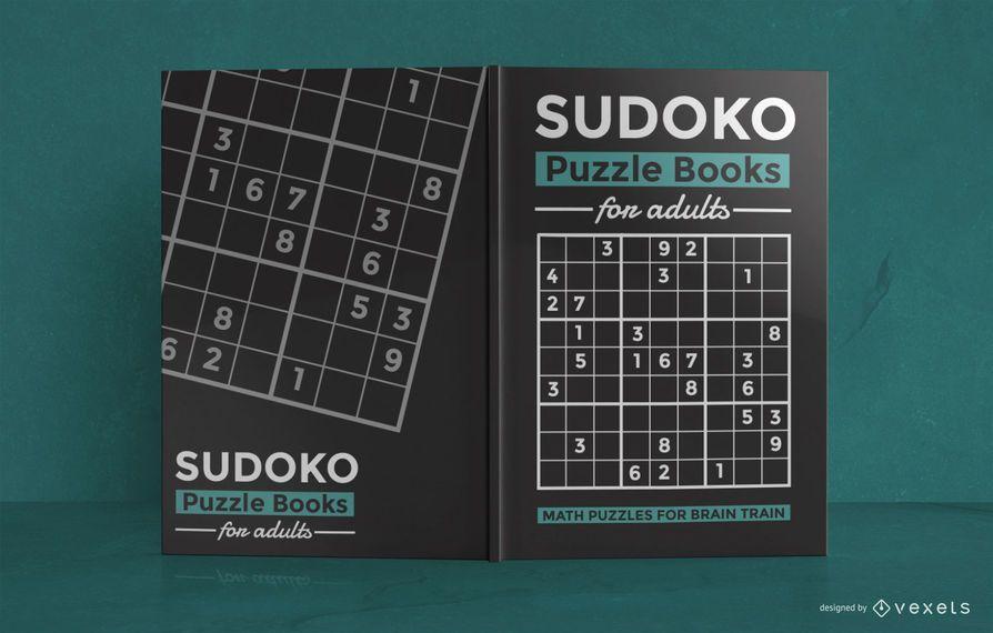 Diseño de portada de libro de rompecabezas de matemáticas