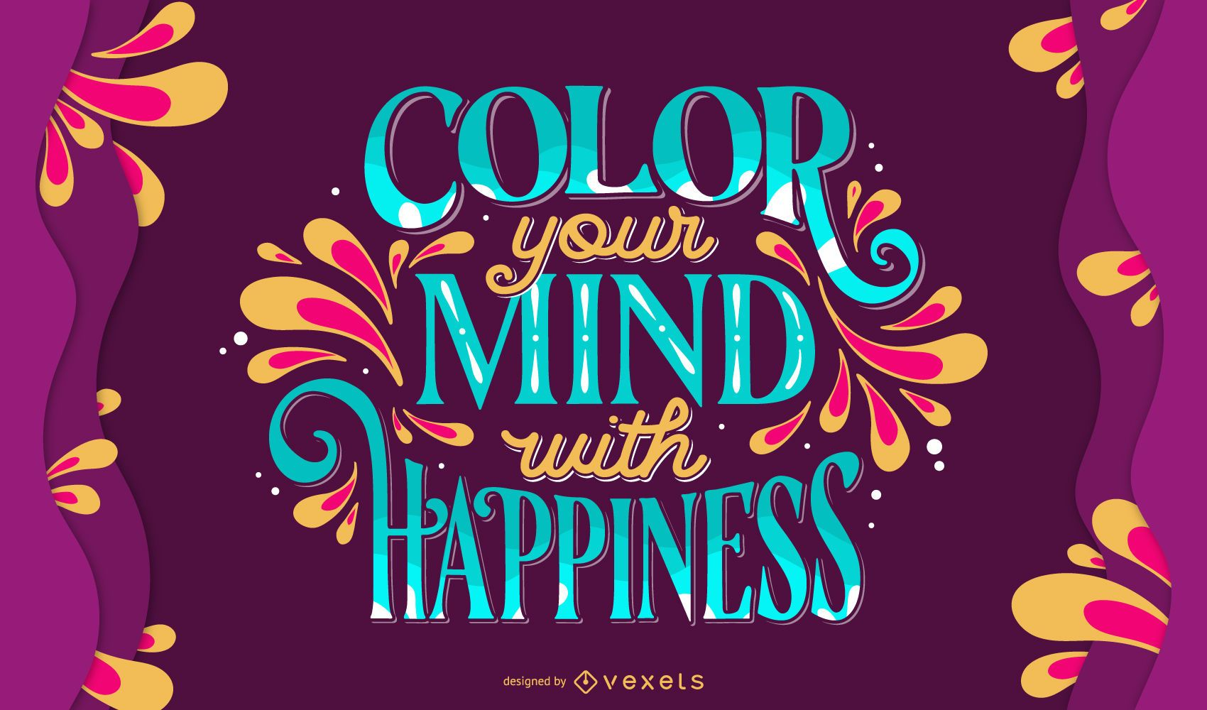 Color your mind holi lettering