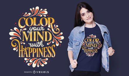 Design de t-shirt de cor sua mente