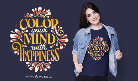 Diseño de camiseta Colour Your Mind