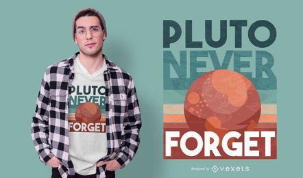 Desenho de t-shirt de citação de Plutão