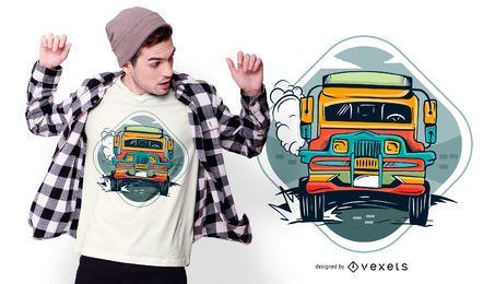 Design de t-shirt de Jeepney