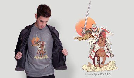 Diseño de camiseta de caballero
