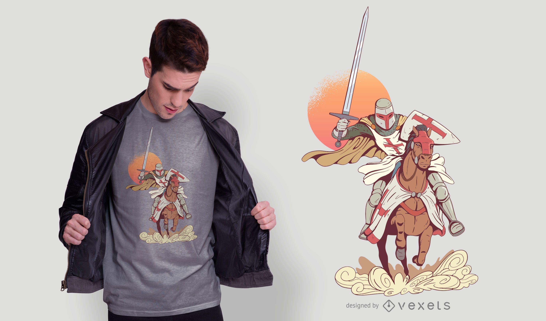 Knight t-shirt design