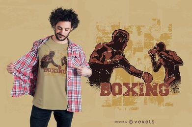 Diseño de camiseta de boxeo vintage