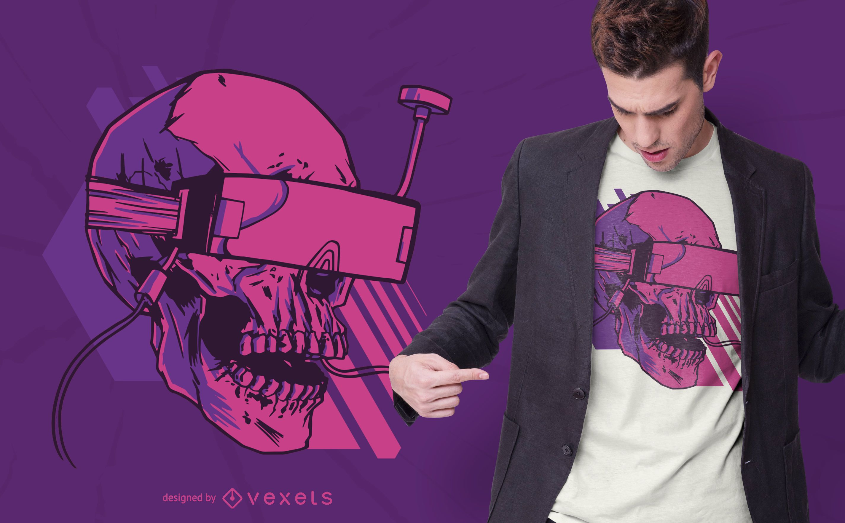Diseño de camiseta skull fpv