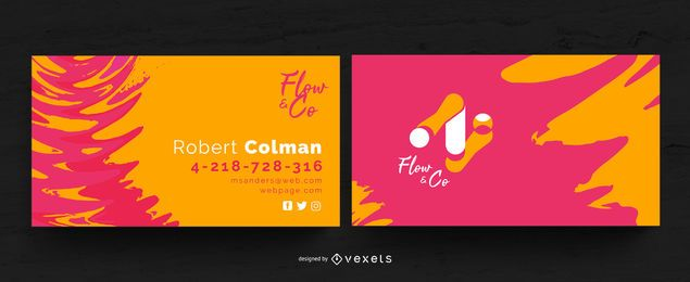 Plantilla de tarjeta de visita vibrante abstracta
