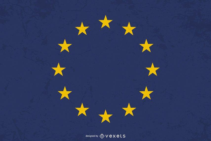Bandera de Europa Diseño Gráfico