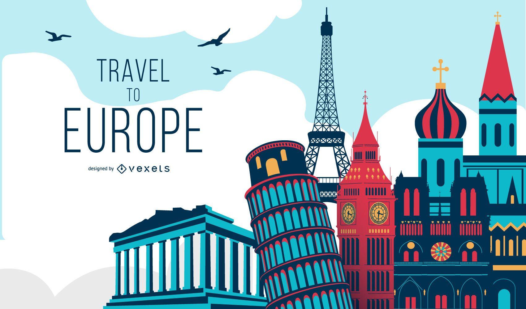 Viaje a la ilustración del concepto de Europa