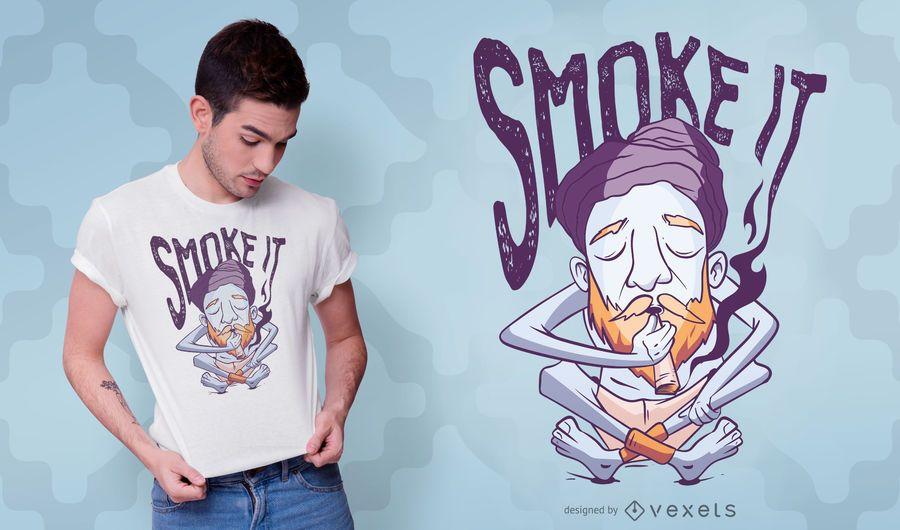Yogi man t-shirt design