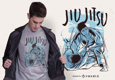 Diseño de camiseta deportiva jiu jitsu