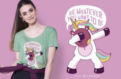 Teddy bear unicorn t-shirt design