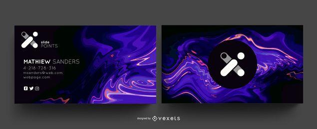 Abstraktes kreatives Visitenkartenpaket