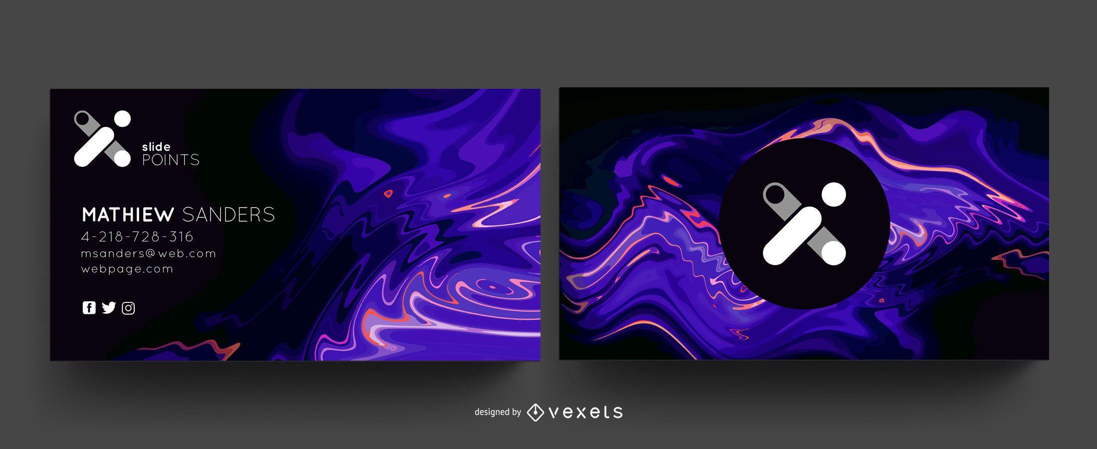 Pacote de cartão de visita criativo abstrato