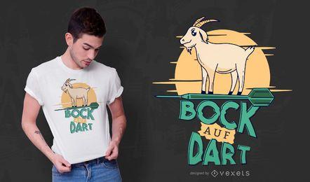 Projeto alemão do t-shirt da cabra do dardo