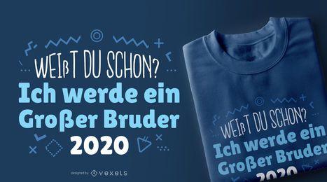 Diseño de camiseta alemán hermano mayor 200