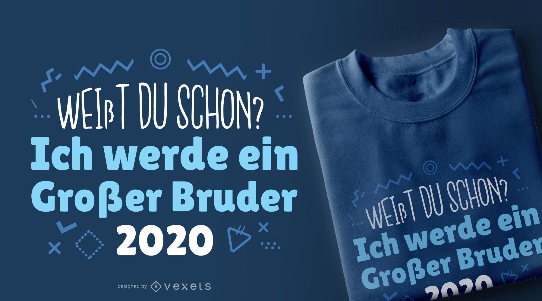 großer bruder 200 deutsches tshirt design  vektor download