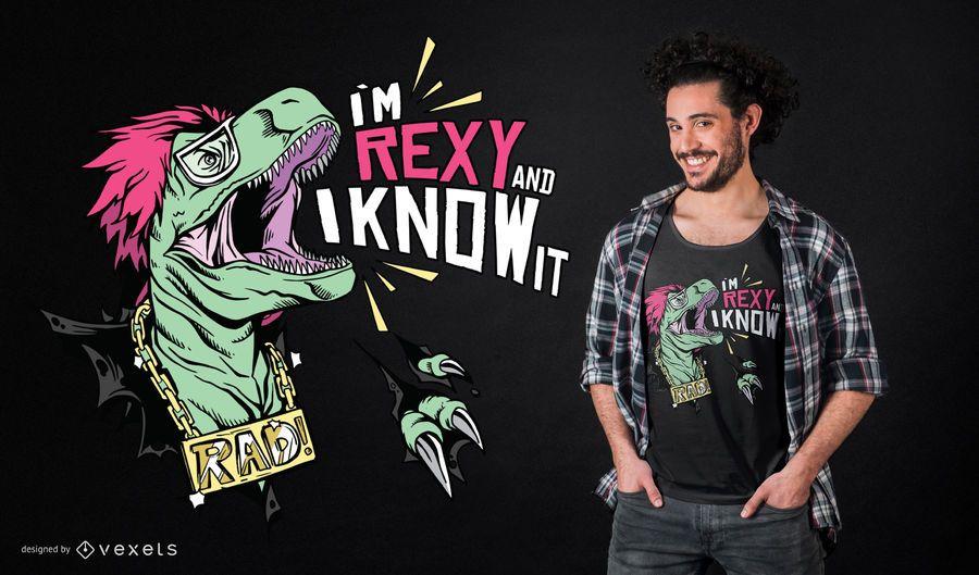 Rexy t-rex t-shirt design