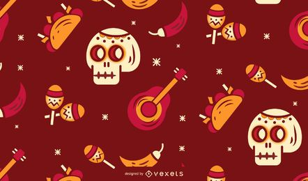Cinco de mayo pattern design