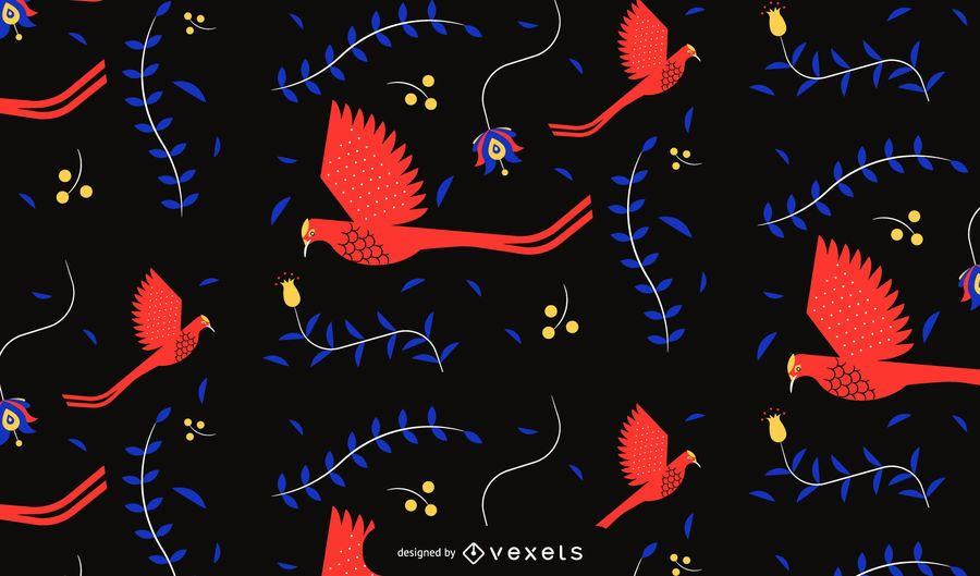 Diseño del patrón de pájaros del cinco de mayo