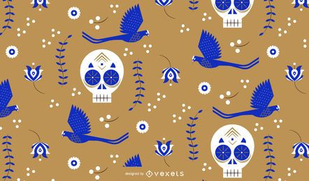 Cinco de Mayo Schädel Muster Design