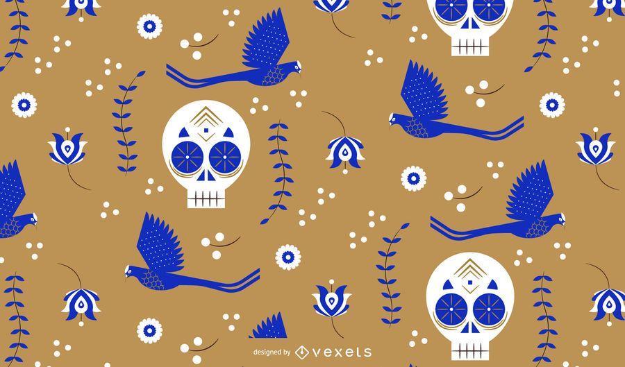 Diseño de patrón de calaveras de cinco de mayo