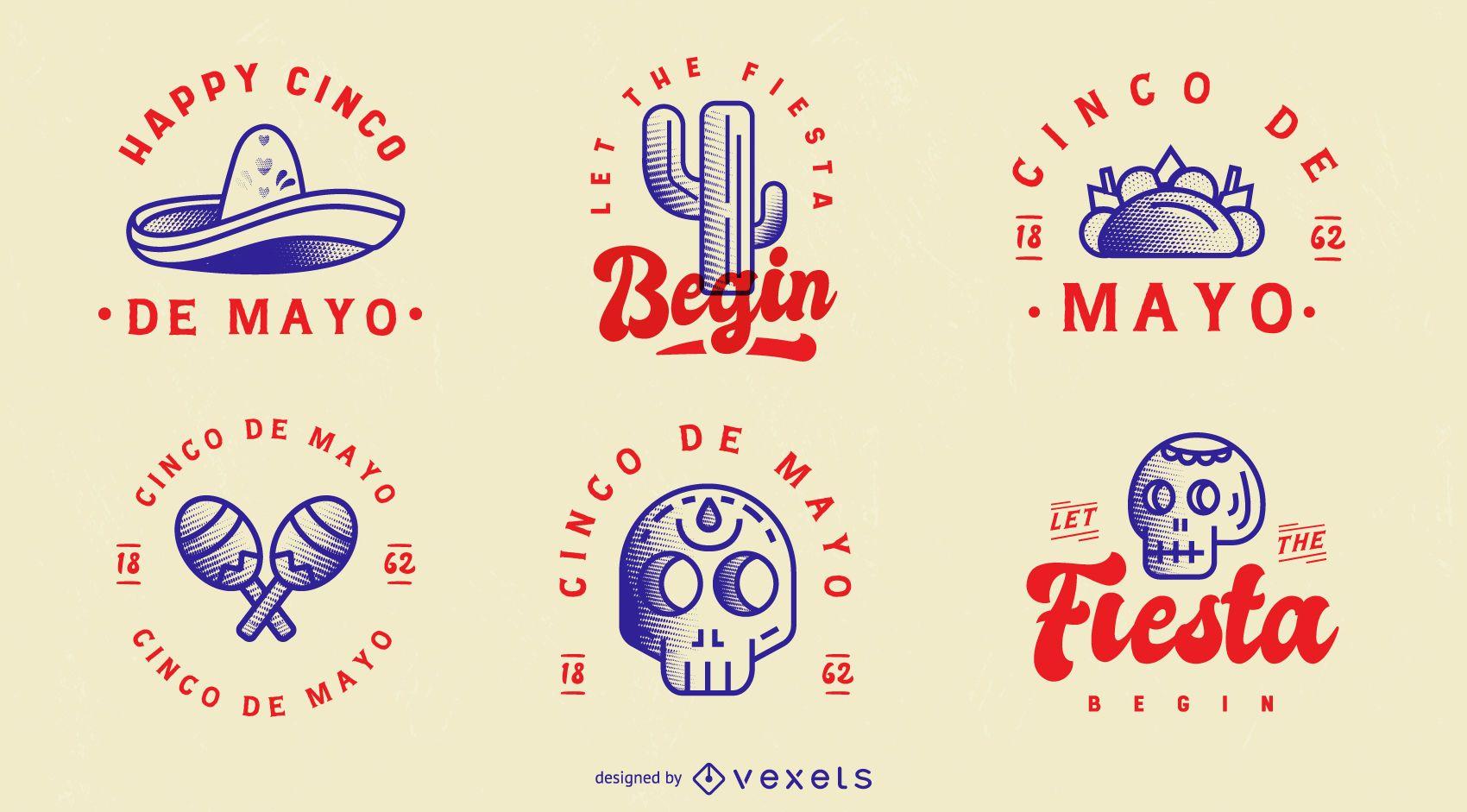 Paquete de insignias del Cinco de Mayo