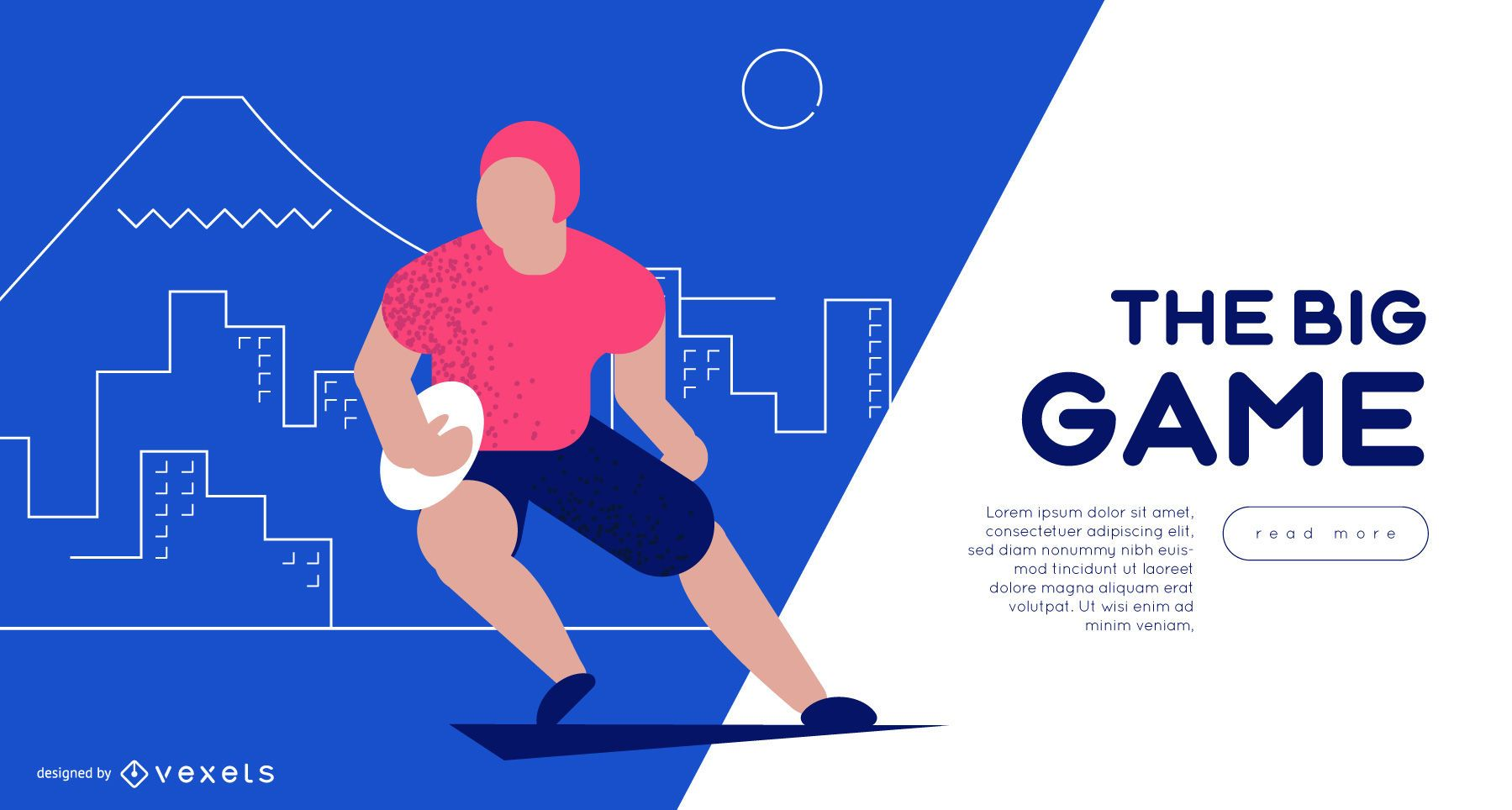 Rugby Player Web Slider Template