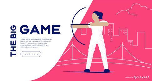 Modelo de slider da Web de tiro com arco dos Jogos Olímpicos
