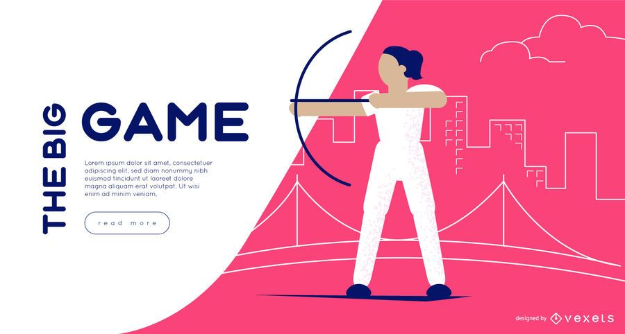 Olympic Games Archery Web Slider Template