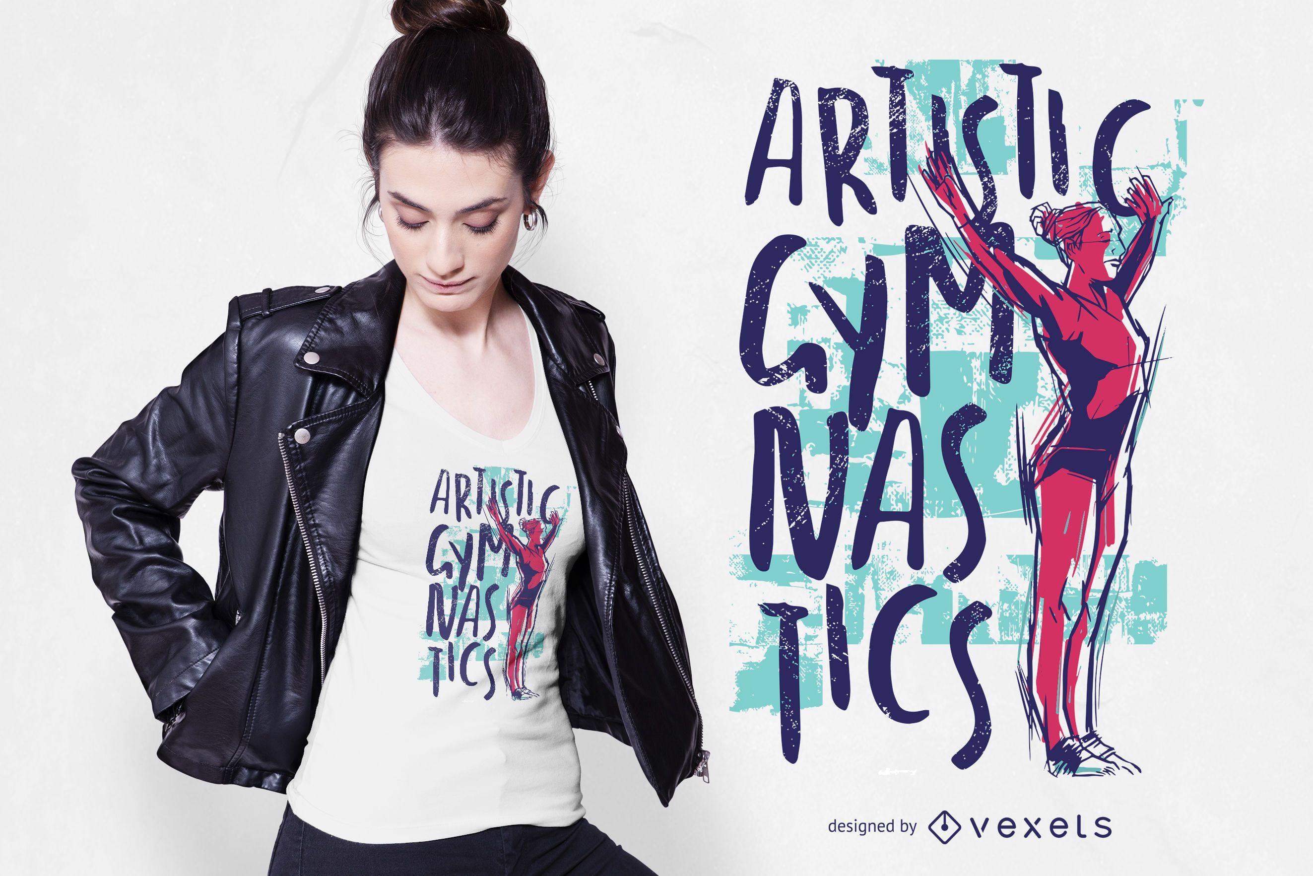 Design artístico de camisetas de ginasta