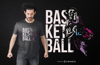 Diseño de camiseta de grunge de baloncesto