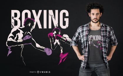 Boxing Grunge Fighters T-shirt Design