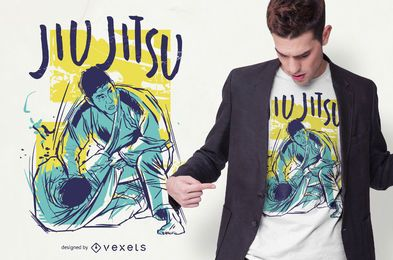 Jiu Jitsu Grunge Color T-shirt Design