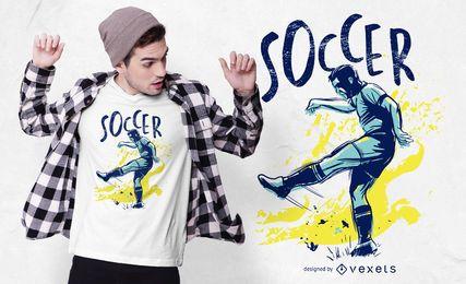 Diseño de camiseta de fútbol grunge color